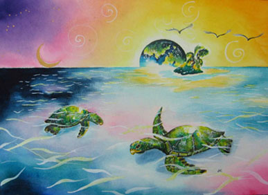 Print - Turtles - The Journey