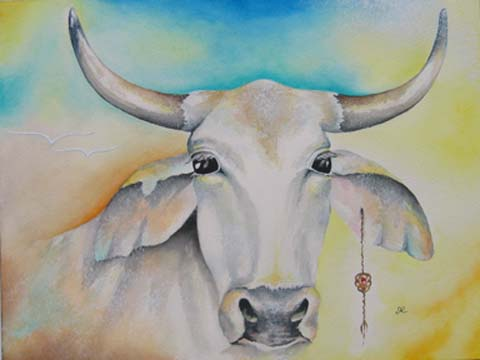 Print - Cow - Born to be Free